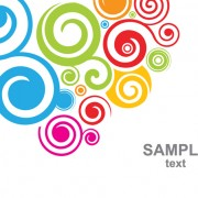 Link toSet of colored swirl vector backgrounds art 03