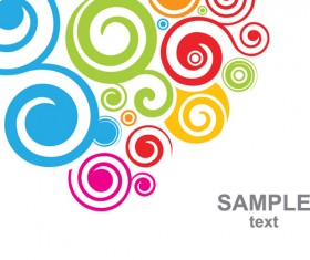 Set of Colored swirl vector backgrounds art 03
