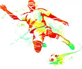 Colored sports elements vector art 01