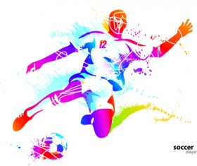 Colored sports elements vector art 02