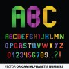 Set of Colorful Alphabet and numbers design vector 02