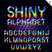 Link toSet of colorful alphabet and numbers design vector 04