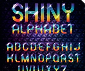 Set of Colorful Alphabet and numbers design vector 04