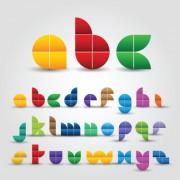 Link toCreative colorful decorative alphabet vector graphics 01