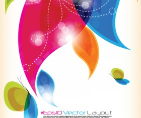 Shiny Colorful wave backgrounds art vector 01