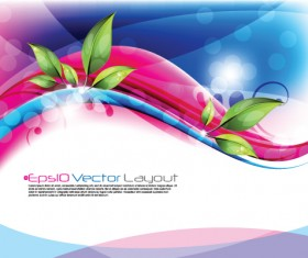 Shiny Colorful wave backgrounds art vector 02