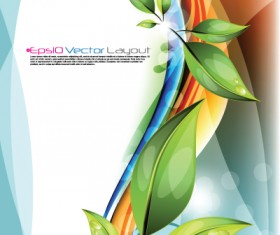 Shiny Colorful wave backgrounds art vector 03