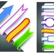 Link toColour bookmarks with arrow vector graphics 01