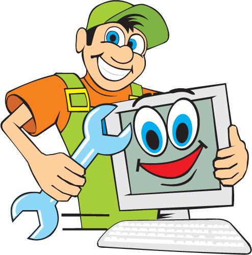 funny computer repair service elements vector 01   vector