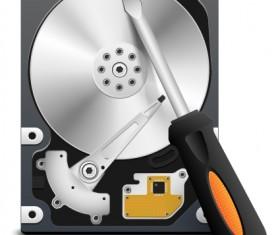 Funny Computer repair service elements vector 05