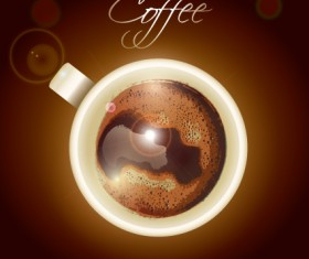 Creative elements Cup of coffee vector 02