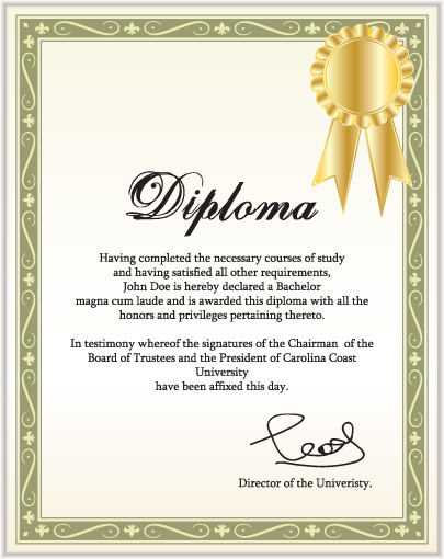 Diplomas And Certificates Design Vector Template 05 Free Download