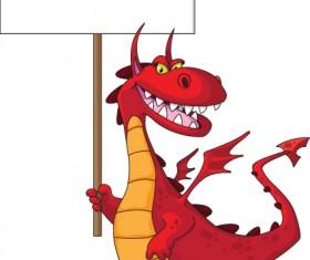 lovely Dragon cartoon elements vector 03