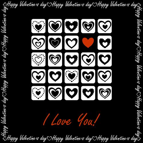 Elegant hearts Valentine ornaments art vector 02