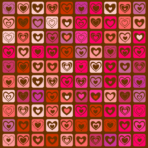 Elegant hearts Valentine ornaments art vector 03