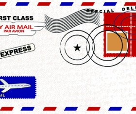 Envelope design elements vector art