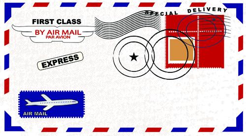 Envelope design elements vector art