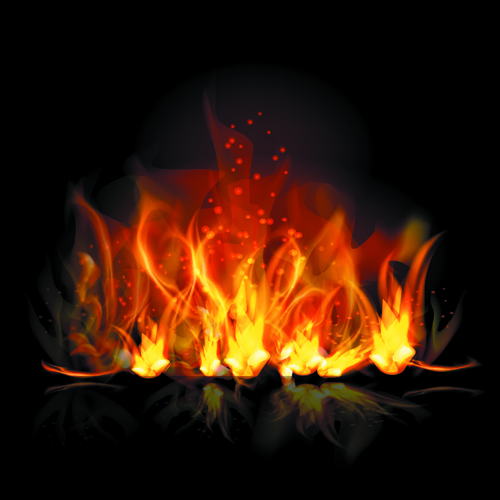 Different shapes of the fire elements vector 03