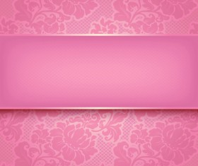 Fabric of Floral Patterns design vector set 02