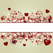 Link toFloral hearts valentine day vector backgrounds 01