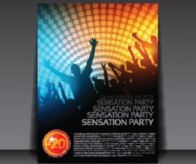 commonly Party Flyer cover template vector 01