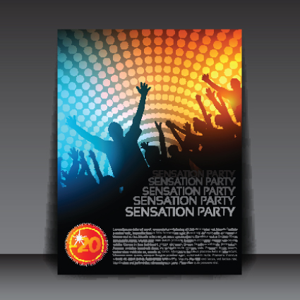 commonly party flyer cover template vector 01 free download