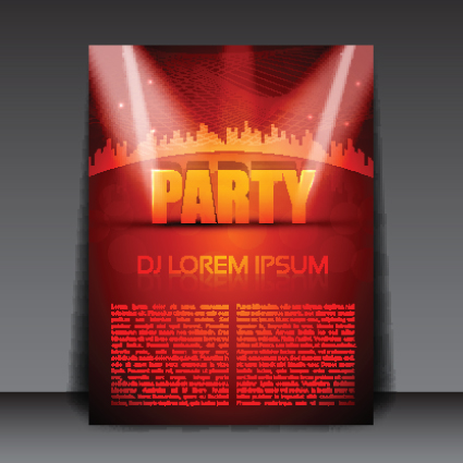commonly Party Flyer cover template vector 02