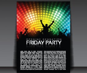 commonly Party Flyer cover template vector 03