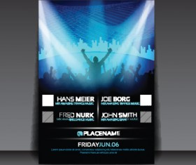 commonly Party Flyer cover template vector 04