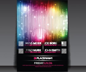 commonly Party Flyer cover template vector 05