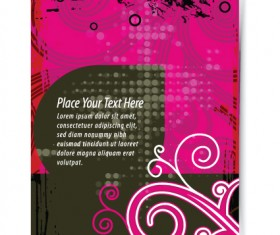Garbage Flyer cover template vector 04