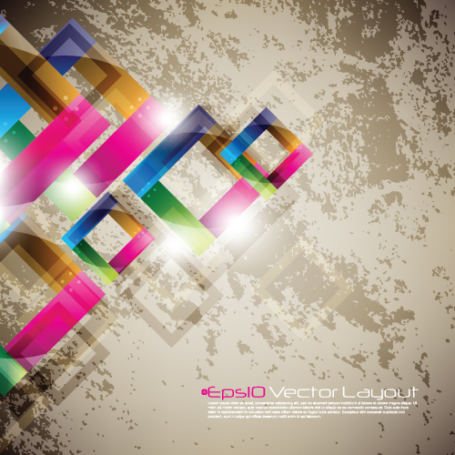 Colored geometric shapes vector backgrounds 01