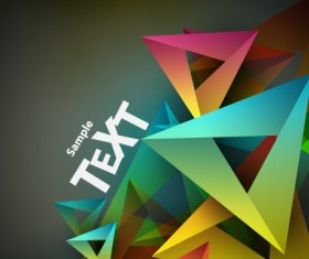 Colored Geometric shapes vector backgrounds 02