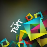 Link toColored geometric shapes vector backgrounds 03