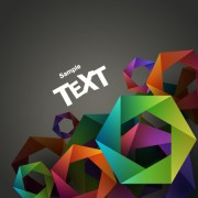 Link toColored geometric shapes vector backgrounds 05