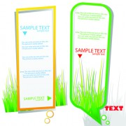 Link toGreen grass with cloud for text vector material 03