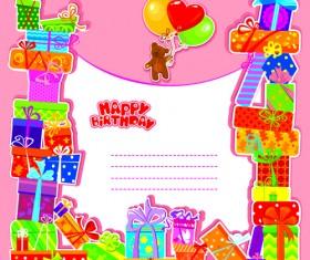 Happy Birthday Gift Cards design vector 02