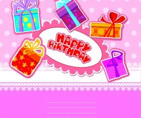 Happy Birthday Gift Cards design vector 03