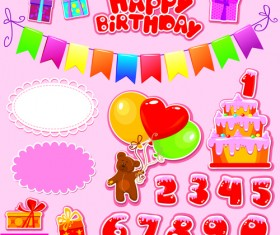 Happy Birthday Gift Cards design vector 04