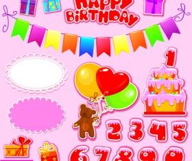 Happy Birthday Gift Cards design vector 04