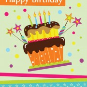 Link toVector set of happy birthday cake card material 02