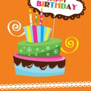 Link toVector set of happy birthday cake card material 04