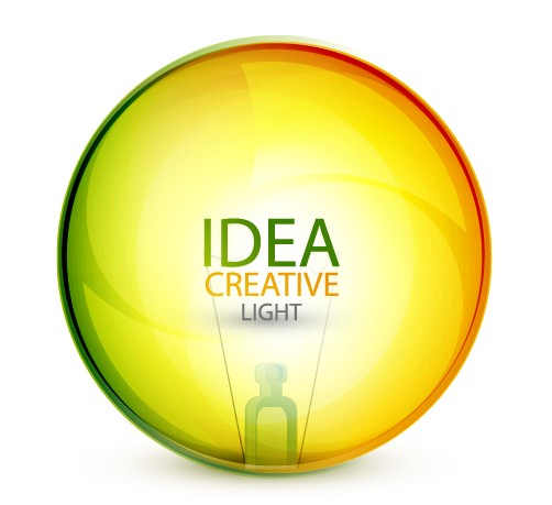 Idea creative light design elements vector 03