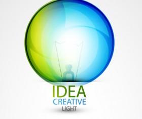 Idea creative light design elements vector 04