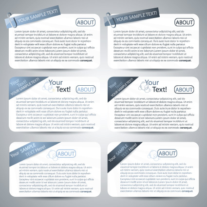 Set of website Information banner elements vector 04