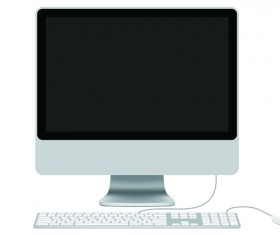 Different LCD monitor design vector 01