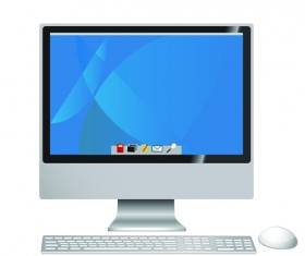 Different LCD monitor design vector 02