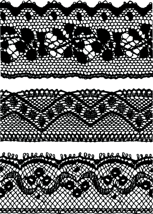 Black Lace Backgrounds vector material 04 - Vector Background free ...