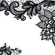 Link toBlack lace backgrounds vector material 05