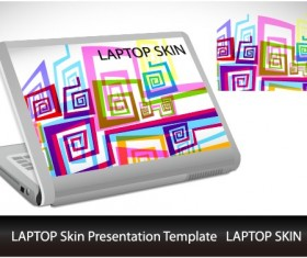 Abstract Laptop sticker vector material 01